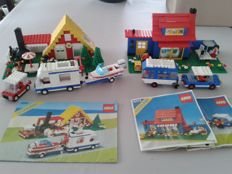 Classic Town - 6388 + 6694 + 6372 - Holiday Home with Caravan + Car with Camper + Town House