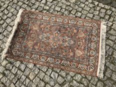 Hand knotted SILK RUG PERSIAN DESIGN 105x63 cm