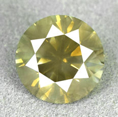 Diamond – 2.53 ct VS2 Natural Fancy Greyish Yellow