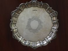 A solid silver salver by Walker and Hall, England, Sheffield, 1899