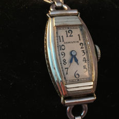 Hamilton – women's watch – Art Deco – original documents and box – around 1930.