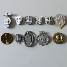 11 Badges from WW2