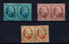 The Netherlands, 1864 - King Willem III, second emission - NVPH 4/6 in pairs