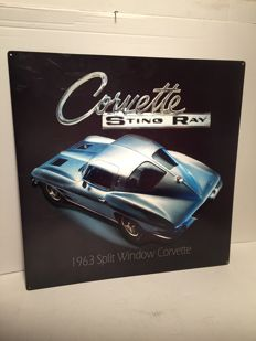 Chevrolet Corvette Stingray 1963 split window Layered Sign (3D) - USA