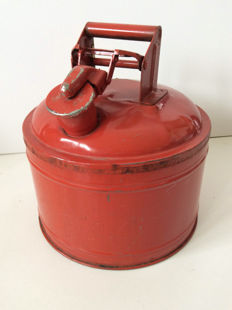 Protectoseal Company Chicago - Double-sided round Jerrycan - 32x30 cm - ca 1950