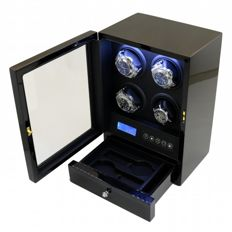 Premium + Watch winder for 4 automatic and 2 quartz movements, NEW.