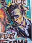 """Bekijk onze Litography- Johnny Cash (26-02-32)-(12-09-03) , """" Hello, I'm Johnny Cash """",  authentic print created and signed by  Sara Bowersock ( Art and Design)"""