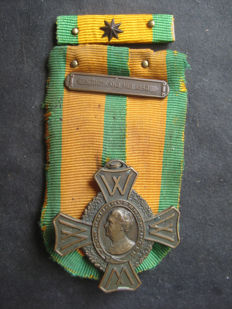 Medal with certificate War Commemoration Cross with clasp the Netherlands, May 1940, to conscript L. Basten