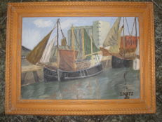 Unknown artist (S. Katz) - Haifa Port