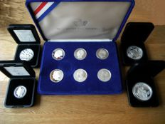 """The Netherlands – Various medals 1997/2014 """"The monarchs of the Netherlands"""" (10 pieces), in sets – silver"""