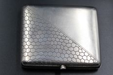 Elegant Art Nouveau Russian Sterling Silver Cigarette Case