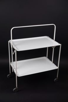 Designer unknown - foldable serving trolley
