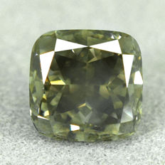 Diamond - 1.51 ct - VS2 Natural Fancy Greenish Yellow
