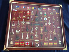 Artwork of Different Models of Anchors of Our History