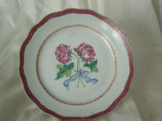 An export famille rose porcelain dish - China - 18th century
