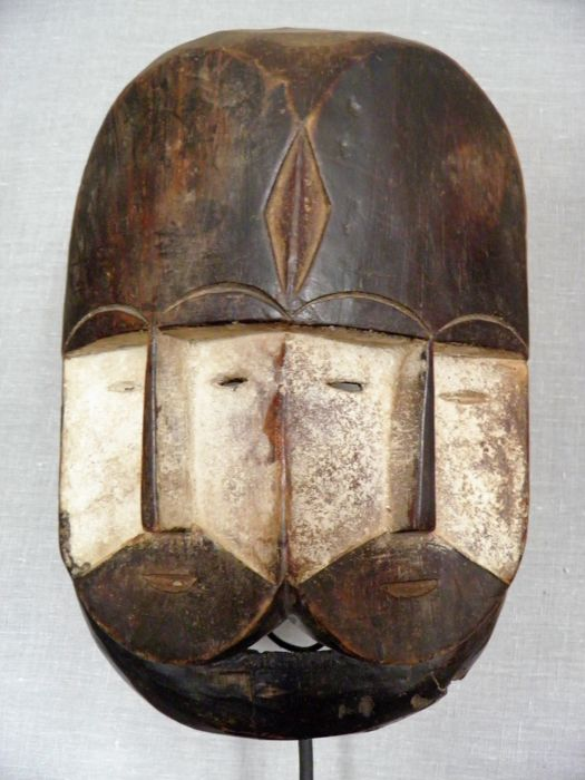 Beautiful FANG - Ngon-Ntang mask - Gabon-Libreville (2 faces)