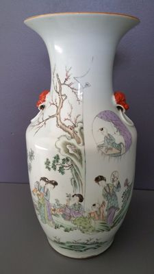 Rose family vase - China - circa 1920 (Republic period)