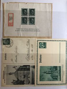 German Empire/Reich - propaganda cards, letters, postal items, picture postcards, telegrams