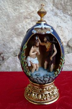 "House of Fabergé - ""The Baptism"" - Egg Collector - Numbered - Signed"