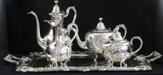 Great Silver Coffee and Tea Set, 5 pieces, Portugal