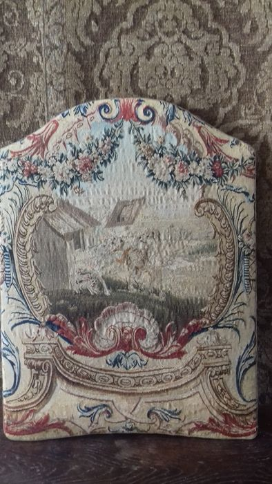 A probably Beauvais tapestry panel - two dogs - France - 18th century