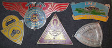 Lot of 5 old Rally emblems - Indonesia