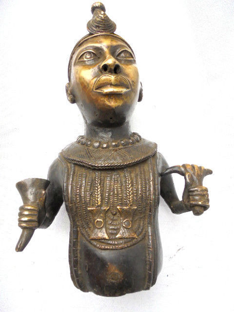 Bronze IFÉ commemorative head - BINI EDO - Benin, Nigeria