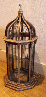 Old wooden bird cage, early 20th century