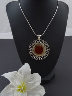 Silver 925 kt necklace with pendant, length necklace:  42 cm