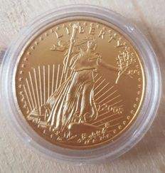 "United States - 50 dollars ""American Golden Eagle"", 2005 -