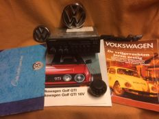 Volkswagen Golf GTI Blaupunkt radio, golf ball gear lever and logo emblems as well as the original brochure and 2 VW magazines
