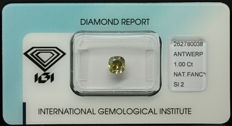 1.00 ct IGI Natural brownish Yellow Diamond – LOW RESERVE