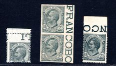 Italy 1919 - Lot of Varieties - SASS#: 108k, 108d, 108, 108f