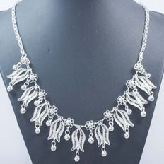 Necklace – silver: 925/1000 – Spanish design – length: 45 cm – weight: 26.60 g – no reserve