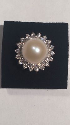 south sea pearl ring 18mm