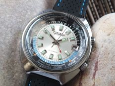 CITIZEN Worldtimer GMT Big Case (68-0516) - Men's Automatic Watch - Vintage 1970s - Mint Condition