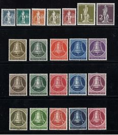 Berlin 1949/1953 - UPU and clock series - Michel 35/105