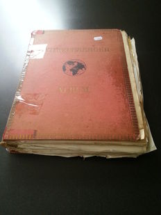 Europe - Collection with Austria, Belgium, France, German districts, Hungary, Spain, etc. in old, homemade album from classic