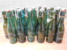 24 old flip-top bottles - beer bottles with porcelain cap from various Belgian breweries _ Ca. 1920 / 1930