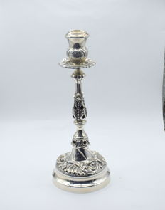 Designer  silver candlestick,  International hallmarked 900