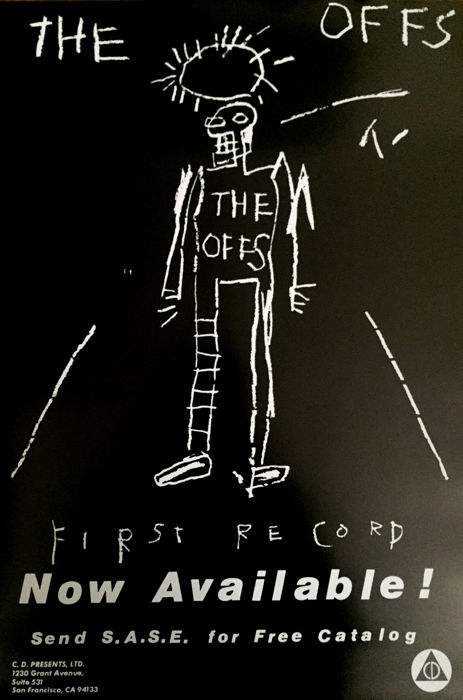 Jean-Michel Basquiat - The Offs, First Record - 1984