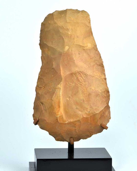 An Egyptian Percussion flaked Stone Axehead- 12 cm