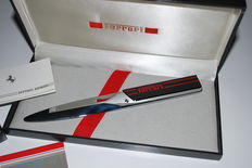 Ferrari - paper knife, stainless steel letter box, with original box