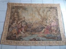 Tapestry with very beautiful Galante scene, 20th century