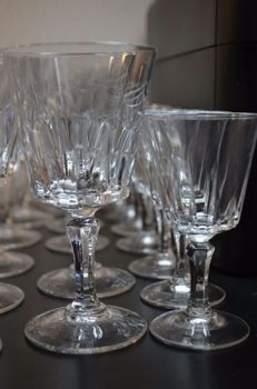 63 Vintage crystal glasses