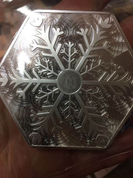 Usa 10 Oz 999 Silver Snowflake Bar Hexagon Bars