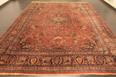 Old antique handwoven Art Nouveau Persian carpet American US Sarough Saruk, made in Iran 270 x 360 cm