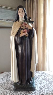 Wonderful large church statue of Saint Thérèse of Lisieux  Normandy France - first half 1900