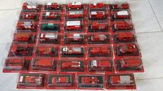 Del Prado - Scale 1/43-1/80 - Lot with 34 Fire Truck Models from France