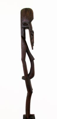 Handcarved one piece Rosewood large (1,50mt) tribal fertility sculpture/Totem